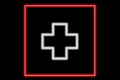 Switzerland neon flag. An illustration of Swiss flag Stock Images