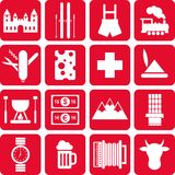 Switzerland pictograms Royalty Free Stock Photography