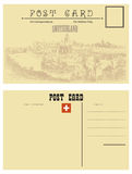 Switzerland postcards Royalty Free Stock Image