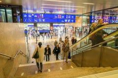 Switzerland railway station Stock Photos