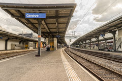 Switzerland railway station - HDR Royalty Free Stock Images