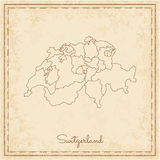 Switzerland Region Map: Stilyzed Old Pirate. Royalty Free Stock Images
