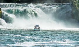 Switzerland. The Rhine Falls. The Rhine Falls is considered to be the largest flat waterfall in Europe Stock Images