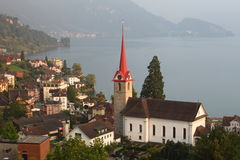 Switzerland See - Weggis lizenzfreie stockfotografie
