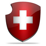 Switzerland shield Royalty Free Stock Images