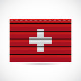 Switzerland siding produce company icon Royalty Free Stock Photo