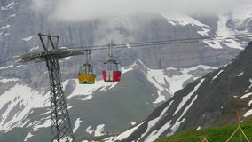 Ski lift in Wengen, Switzerland. Switzerland. Ski lift in Wengen stock video