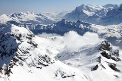 Switzerland Ski Slopes Royalty Free Stock Photography
