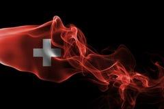 Switzerland smoke flag Royalty Free Stock Photo