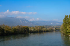 Switzerland, Solothurn. Nice view in Switzerland, Solothurn from a bridge stock photography