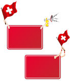 Switzerland Sport Message Frame with Flag. Vector - Switzerland Sport Message Frame with Flag. Set of Two royalty free illustration