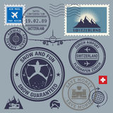 Switzerland stamps set Royalty Free Stock Image