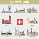 Switzerland. Symbols of cities Stock Photos