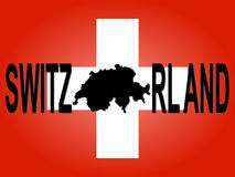 Switzerland text with map Royalty Free Stock Photos