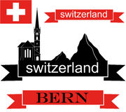 Switzerland. Vector illustration (EPS 10 Stock Photo