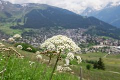Switzerland Verbier Wallis Valais landscape view stock image