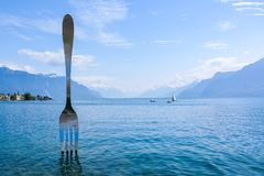 switzerland vevey Royaltyfria Foton