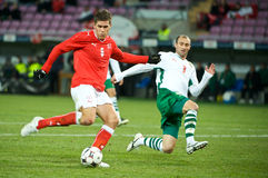 Switzerland vs Bulgaria Stock Photo