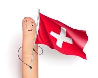 Switzerland waving flag Stock Photo