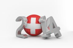 Switzerland world cup 2014 message Stock Photography
