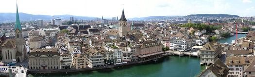 switzerland zurich Arkivfoton