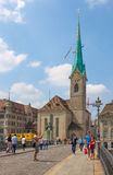 Switzerland. Zurich. The Limmat River. The summer of 2015 Stock Photography