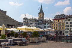Switzerland. Zurich. The Limmat River. The summer of 2015 Royalty Free Stock Images