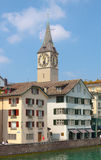 Switzerland. Zurich. The Limmat River. The summer of 2015 Stock Images