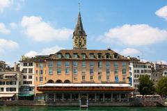 Switzerland. Zurich. The Limmat River. The summer of 2015 Royalty Free Stock Photos