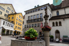 Switzerland, zurich, muenzplatz Stock Photo