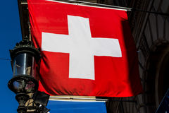 Switzerland, zurich, swiss flag Stock Photo