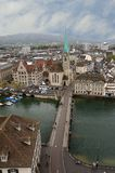 Switzerland, Zurich, view of the city Royalty Free Stock Photo