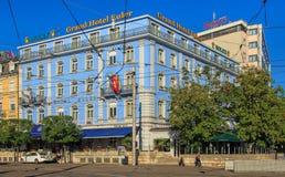 圆山大饭店欧勒大厦在巴塞尔, Switzerlnd 库存照片