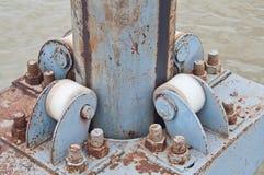 Swivel Adjustment For Floating Dock Royalty Free Stock Images