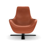 Swivel chair. Leather swivel chair on white background Stock Image