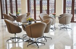 The swivel chairs in reception room Stock Photo