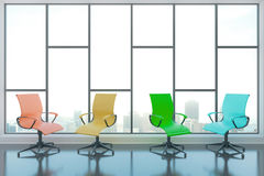 Swivel chairs in room Stock Image