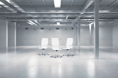 Swivel chairs in warehouse Royalty Free Stock Image