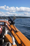 Swivel gun on deck Stock Photo