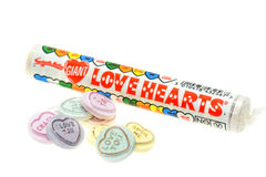 Swizzels Matlow Love heart candy sweets Royalty Free Stock Photos