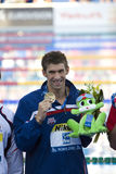 SWM: Światowy Aquatics mistrzostwo - ceremonia mężczyzna 200m motyl Obrazy Royalty Free