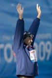 SWM: Światowy Aquatics mistrzostwo - kobiet 50m żabka semi obrazy stock