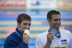 SWM: Światowy Aquatics mistrzostwo - mężczyzna 100m motyli finał Obrazy Royalty Free