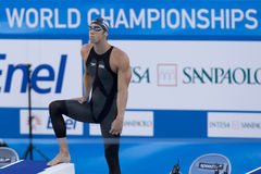 SWM: Πρωτάθλημα παγκόσμιου Aquatics - ημι fina ελεύθερης κολύμβησης των ατόμων 200m Στοκ εικόνες με δικαίωμα ελεύθερης χρήσης