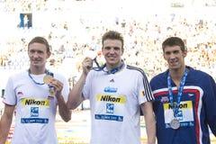 SWM: Πρωτάθλημα παγκόσμιου Aquatics - τελικό ελεύθερης κολύμβησης των ατόμων 200m Στοκ Εικόνες