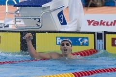 SWM: Πρωτάθλημα παγκόσμιου Aquatics - τελικό ύπτιου των ατόμων 200m στοκ εικόνες
