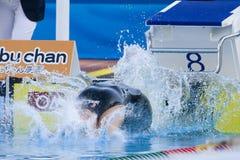SWM: Πρωτάθλημα παγκόσμιου Aquatics - τελικό ύπτιου των γυναικών 100m στοκ εικόνες
