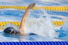 SWM: Πρωτάθλημα παγκόσμιου Aquatics - τελικό ύπτιου των γυναικών 200m στοκ εικόνες
