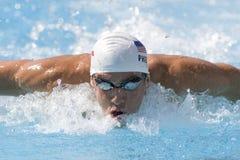 SWM: Чемпионат Aquatics мира - бабочка 100m людей qualific Стоковое Изображение RF