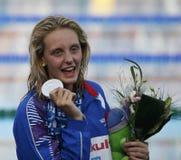 SWM: Чемпионат Aquatics мира - выпускные экзамены фристайла 100m женщин Стоковые Изображения RF